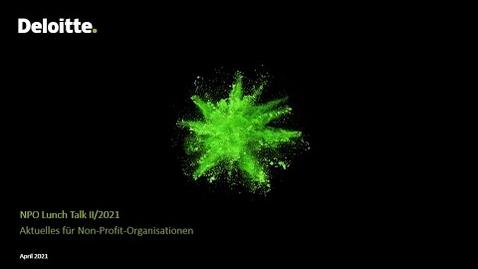 Thumbnail for entry NPO Lunch Talk Spezialausgabe vom 09.09.21 – Aktuelles für Non-Profit-Organisationen