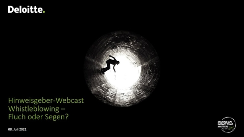 Thumbnail for entry Webcast Whistleblowing aktuell vom 8.07.2021