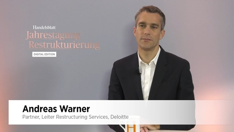 Thumbnail for entry Interview mit Andreas Warner - Partner - Leiter Restructuring Services - Deloitte