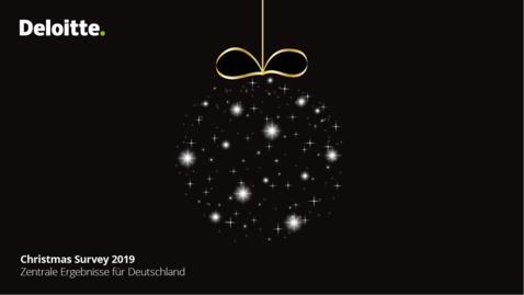 Thumbnail for entry Deloitte Christmas Survey 2019   Zentrale Ergebnisse für Deutschland
