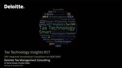 Thumbnail for entry Tax Technology Insights #17