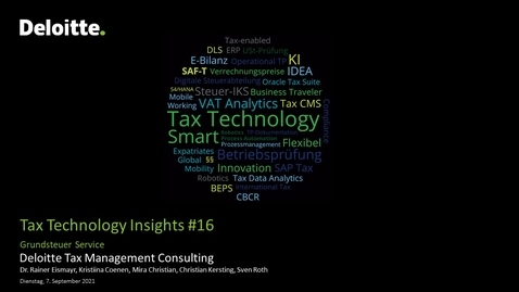 Thumbnail for entry Tax Technology Insights #16