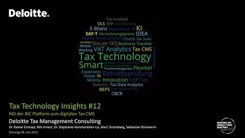 Thumbnail for entry Tax Technology Insights #12