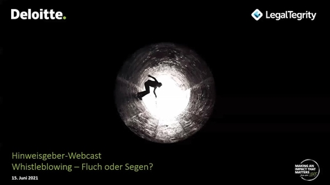 Thumbnail for entry Webcast Whistleblowing aktuell vom 15.06.2021